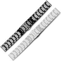 White Ceramic Watchbands Width 14mm 16mm 18mm 20mm 22mm Strap NEW Fashion Watch Watchband Women Ceramic