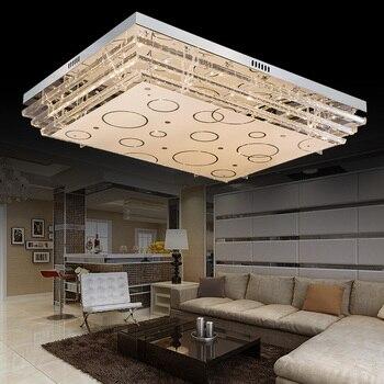 Простой современный светодиодный потолочный светильник прямоугольный хрустальный светильник для гостиной светильник для спальни Домашни...