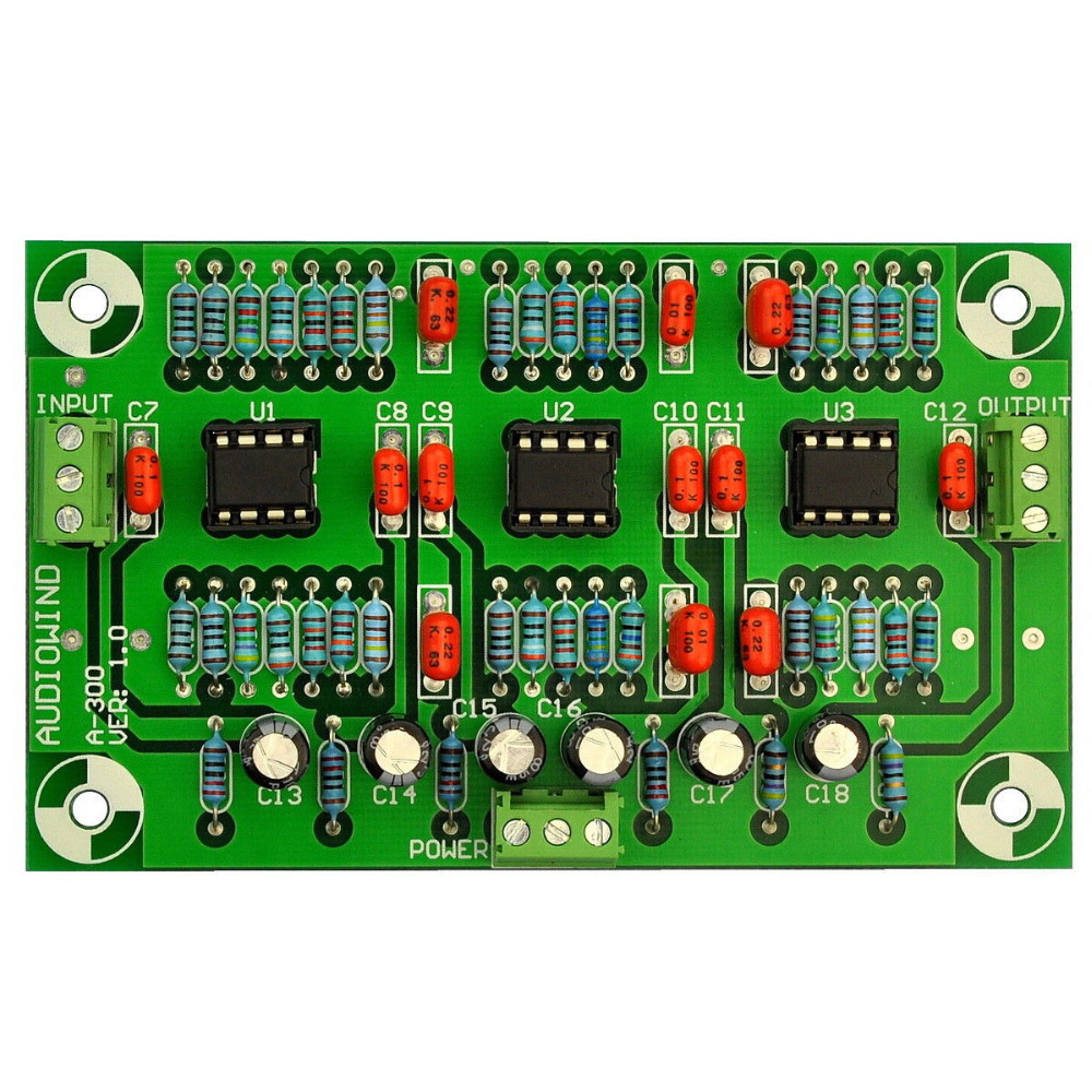 Stereo Phono RIAA Preamplifier Preamp Module Board (LM833-N, For MC Pickup)