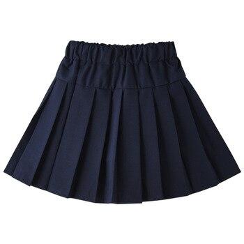 女の子色プリーツのスカート学童スカート 2019 夏の秋弾性ウエストフレア十代のミニスカート