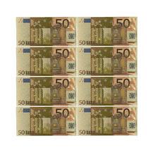 Cor Das Notas de Euro 10 pçs/lote 50 Folha de Ouro de Notas de EUROS para a Recolha e Presentes com o Dinheiro DA UE Ofício Requintado