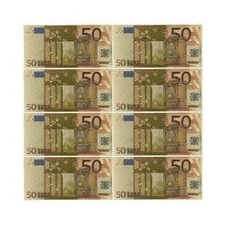 Цветные евро банкноты 10 шт./лот 50 евро банкноты из золотой фольги для коллекции и подарка деньги ЕС изысканное ремесло