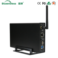 RJ45 zewnętrzny dysk twardy case Nas wifi anteny bezprzewodowej wifi sata interfejs usb 3.0 wifi hdd aluminium pole hdd hdd 3.5 HDD caddy