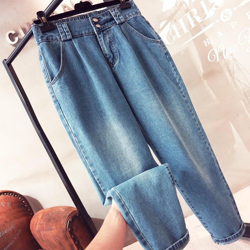 Loose Large Size Jeans Women Denim Harem Pants Vintage High Waist Boyfriend Jeans Female Streetwear Casual Mom Jeans 5XL Q1725