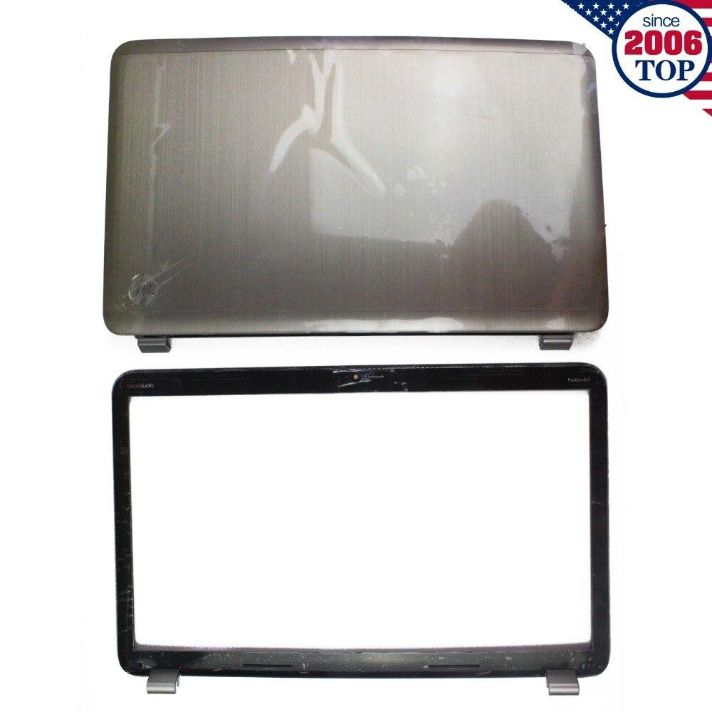 For HP Pavilion DV7 DV7-6000 LCD Back Cover 17.3 Silver 665977-001 + Front bezel