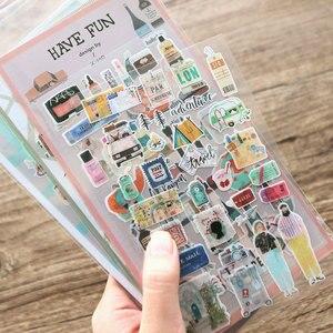 6design my trip kitchen map make up paper sticker scrapbooking cartoon style planner book decoration(China)