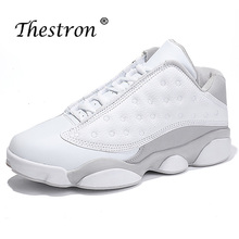 2019 Thestron Mid-Top Man Basketball Rubber Bottom Sneakers Spring Autumn Mens White Comfortable Trainers Athletic Shoe