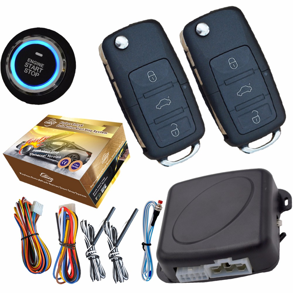 flip key remote car alarm system auto central lock or unlock car door engine start stop button passive keyless entry auto alarm