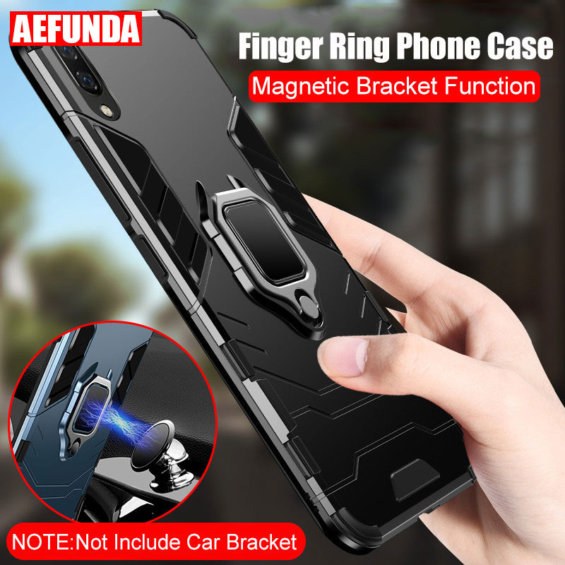 Phone Magnetic Stand Case for Huawei Mate 20 <font><b>Lite</b></font> <font><b>30</b></font> P20 <font><b>Lite</b></font> Pro Cases <font><b>P</b></font> Smart Y9 2019 Honor 8X Hard Armor Finger Ring Cover image