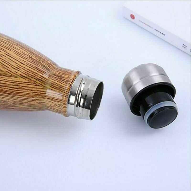 Impressão Vácuo Isolado Garrafa De Água de Aço inoxidável Garrafa Térmica de Parede Dupla Quente E Fria 500 ML