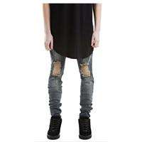 2016 Latest Men S Pants Design Fashion High Street Style Long Men Jeans Pants Solid Color
