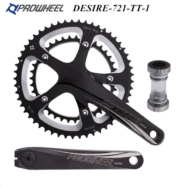 Prowheel Folding Bike Road Bike Crank Bicycle Chainwheel 10 Speed 10S 53/39t 170L prowheel chariot 53t folding bike road bike crankset 170 crank bicycle chainwheel 170l 170mm for sp8 8s 9s speed