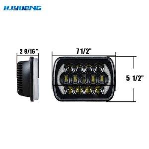 Image 4 - 5X7 pulgadas 85W h4 bombilla de faro LED 7x6 pulgadas faro DRL para Jeep Wrangler YJ XJ camión FLD Firebird Celica 240SX 7 pulgadas lámpara led