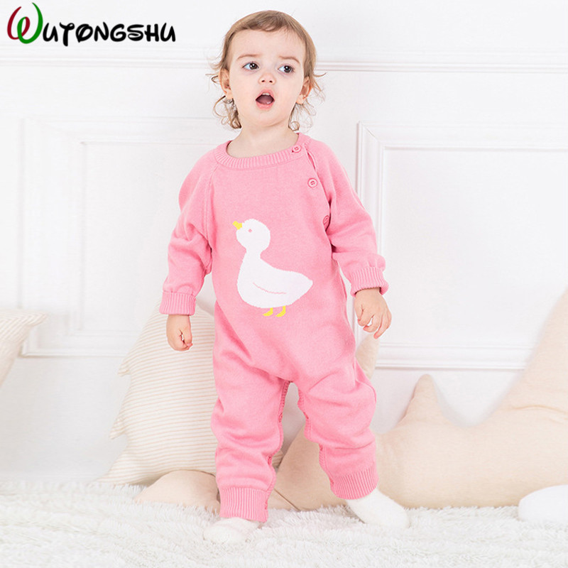 4 Colors Autumn Winter Girls Baby Rompers Clothes Long Sleeved Knitted Coverall For Newborns Boy Girl Polar Fleece Baby Clothing new 2017 autumn winter baby rompers clothes long sleeved coveralls for newborns boy girl polar fleece baby clothing 3 12m 004