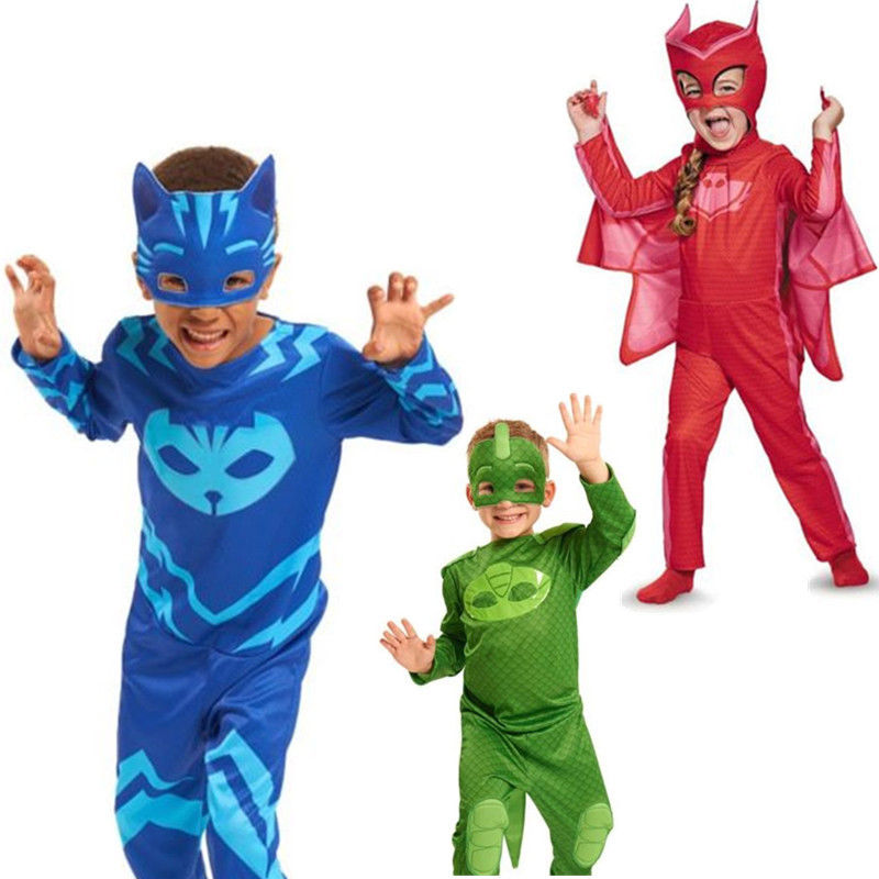 PJ Masks Owlette Classic Toddler Child Costume And Silky Cloak