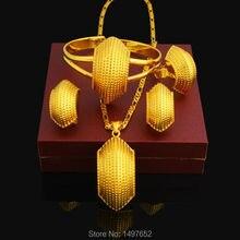 Etíope nuevo Caracol Desigh de La Joyería 24 K Plateó el Collar/Colgante/Pendiente/Del Anillo/Pulsera Africana Joyería de La boda