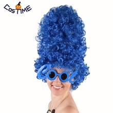 Marge Simpson Wig Blue Beehive Marge Costume Anime Deluxe Gl