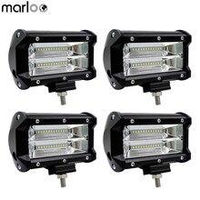 Marloo 4pcs Led Light Bar 72W 5 Inch Led Work Lights Truck Led Pods Car Led