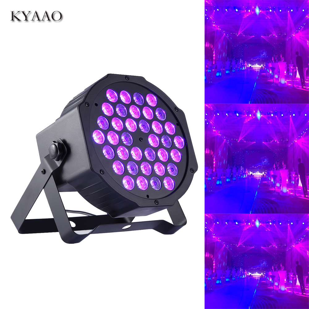LED 36W UV Par Light 90-240V Dj Club Colored Stage Lighting Sound Control Christmas Decoration Background Lights Disco Wedding P