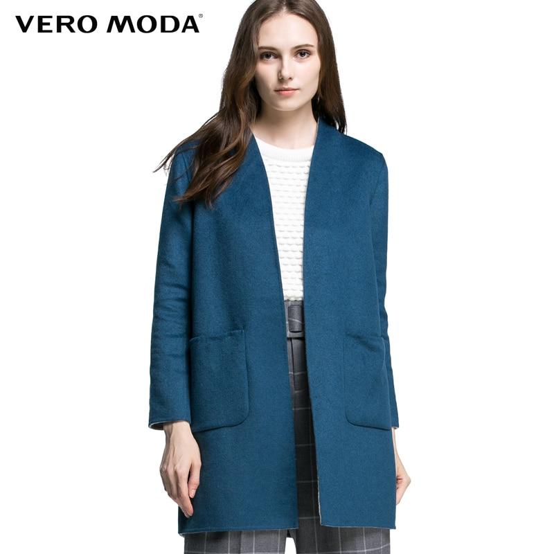 Vero Moda Marque double-face porter cocon laine manteau femme | 315327014