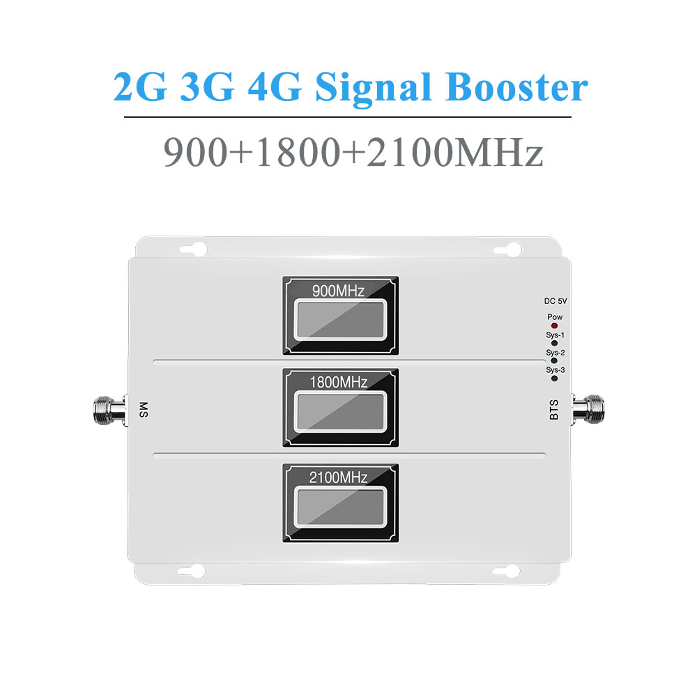 Lintratek 2G 3G 4G AGC Signal Repeater 900MHz UMTS 2100MHz LTE 1800MHz Tri Band LCDs Cell Phone Signal Booster Amplifier NEW /-in Signal Boosters from Cellphones & Telecommunications    2