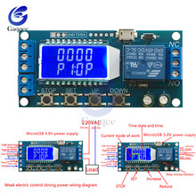 Micro USB цифровой ЖК-дисплей задержки времени релейный модуль постоянного тока 6-30 в управление многофункциональный таймер курок переключателя модуль цикла платы 12 В