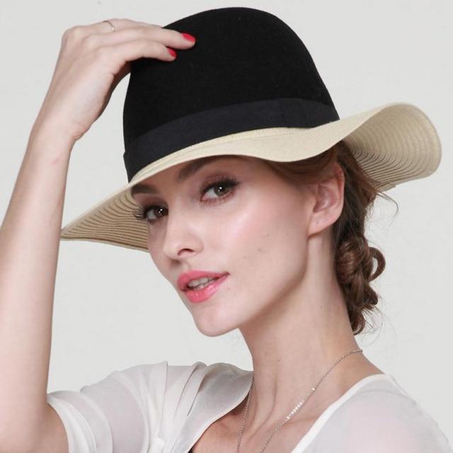 La nueva lana, remiendo de la paja MS Sir Sombrero de paja sombrero sombrero de la manera