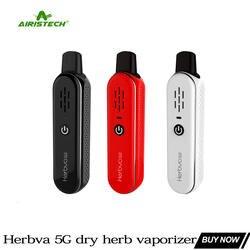 Оригинал Airistech Herbva 5 г сухой травы испаритель 1000 курительный кальян набор с электронной сигаретой TC маленький vape травяной комплект вейпер