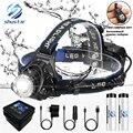 LED scheinwerfer fischerei scheinwerfer T6/L2/V6 3 modi Zoombare lampe Wasserdichte Kopf taschenlampe Kopf lampe verwenden 18650 für camping