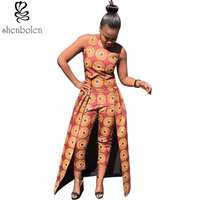 Print Dress Of Fashion And Personality Of 216 African Traditional Batik Cotton Round Collar Jacket And