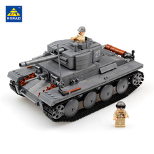 KAZI 868PCS Building Blocks Military German PZKPFW-II Tank Model ABS Plastic Brick Army Toys Hobbies Boys Gift