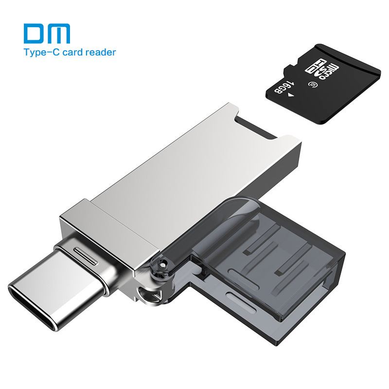 DM USB C Card Reader CR006 Micro SD/TF Type C Multi Memory Card Reader for MacBook or smartphone with USB-C interface sandisk 3 0 card reader super speed sd card reader to usb interface multi smart memory for computer usb card reader sddr 399
