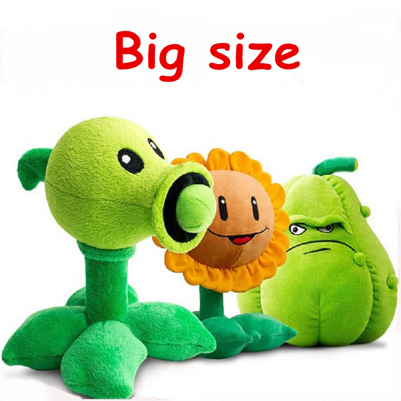 Hot Plants vs Zombies Action Figure Toys 30cm Pea Shooter Sunflower Squash Plush Toys Doll Figures Toys Children Kids Gift patrulla canina with shield brinquedos 6pcs set 6cm patrulha canina patrol puppy dog pvc action figures juguetes kids hot toys