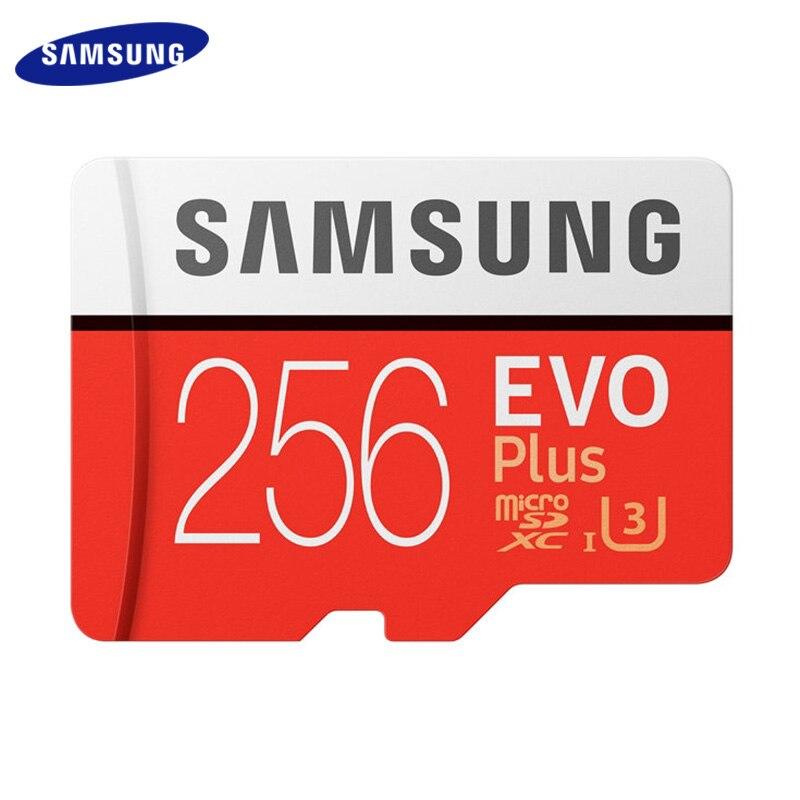 Samsung Original TF Card 256GB Memory Card 128GB MicroSD EVO Card 64GB Plus Class 10 U3 For Smartphone Tablet Camera