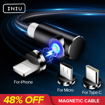 INIU 2M Fast Magnetic Cable Micro USB Type C Charger Charging For iPhone XS X XR 8 7 Samsung S8 Magnet Android Phone Cable Cord