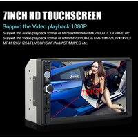 Podofo 2 Din Car Audio Stereo Radio 7010B Multimedia Player 7 HD MP5 Touch Screen Digital