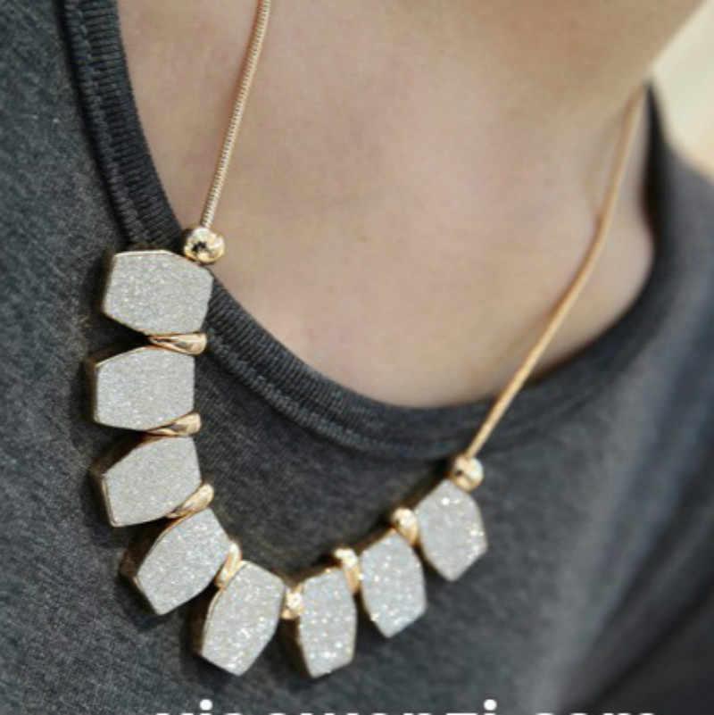 2017 Thời Trang Mới Elegant Necklace Phụ Nữ, Độc Đáo Bất Thường Shape Matte Đánh Bóng Pendant Dây Chuyền, Dài Neckless Phụ Nữ Neckless Men