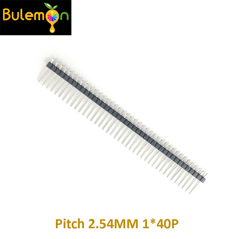10pcs/lot 15MM Single Row Pin 1*40P  Pin Header Pitch 2.54MM Straight Long Needle