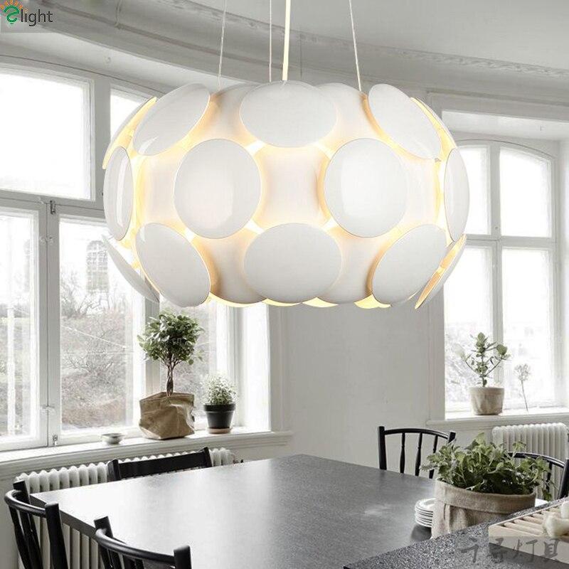 Moderno Pigne Led Luci a Sospensione Lampadario Rotondo di Metallo Soggiorno Led Camera da letto Illuminazione Lampadario Hanging Light Fixtures