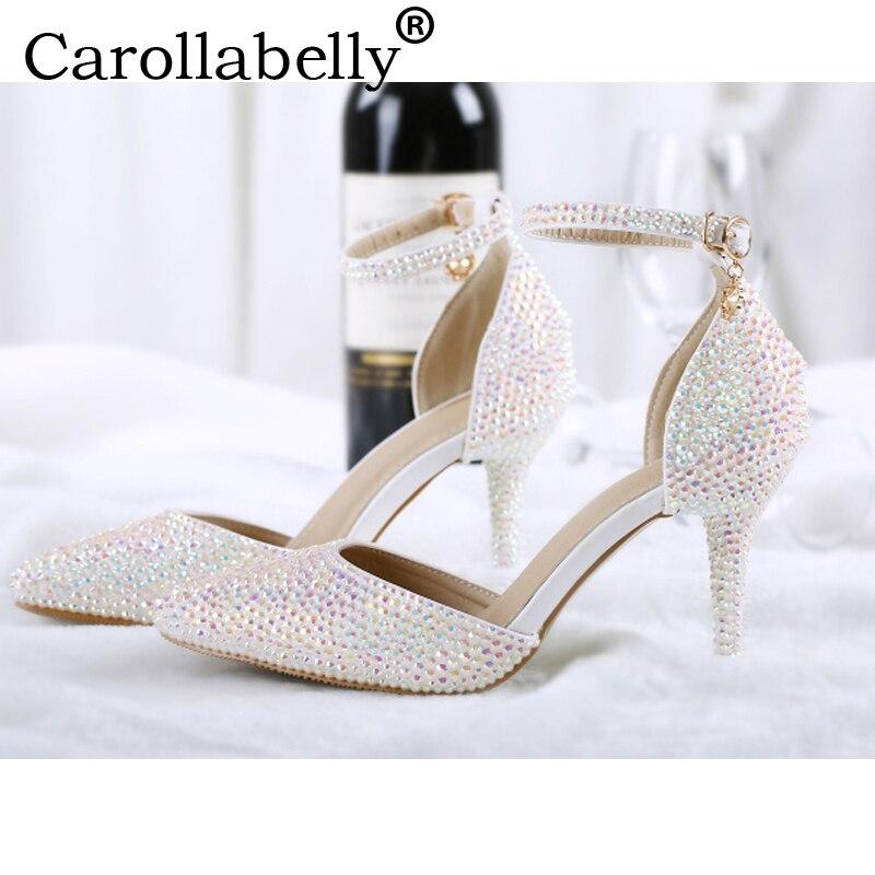 diamond white wedding shoes