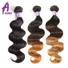 Malaysian Body Wave Hair Bundles 100% Human Hair Weave Bundles Alimice Hair Extension Non-Remy Hair Weaving 100g Natural Color