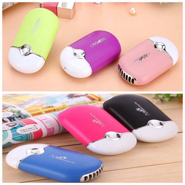 5 pieces/lot Mini portable hand held desk air conditioner humidification cooler cooling fan