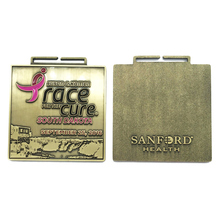 купить Eco-Friendly Gold South Dakota Race for The Cure Survivor Medal for Souvenir Use   k 200163 дешево