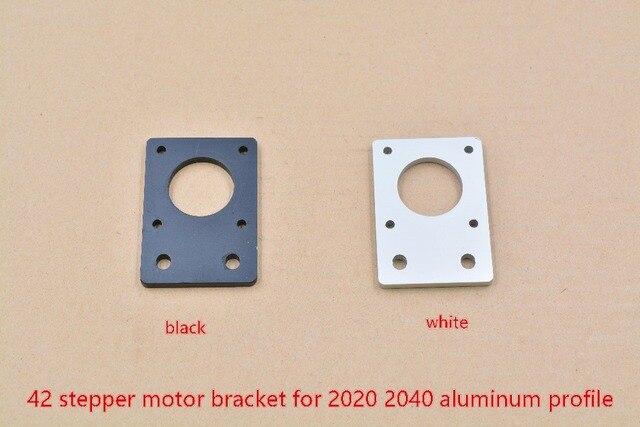 Plaque en aluminium 42 support de moteur pas à pas nema17 épaisseur 4mm pour 2020 2040 profil en aluminium