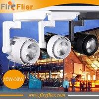 10pcs Pc Ceiling Led Track Light 15w 20w 30w 40w Shopping Mall Spotlight Cob Track Lamp