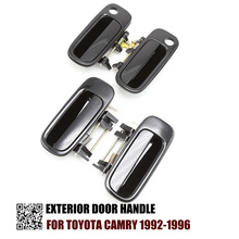 FL FR RL RR Set 4 Black Outside Door Handle For Toyota Camry 1992 1993 1994 1995 1996 69240 33010 69220 33020 2.2L 3.0L