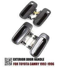 FL FR RL RR zestaw 4 czarny klamka zewnętrzna dla Toyota Camry 1992 1993 1994 1995 1996 69240 33010 69220  33020 2.2L 3.0L