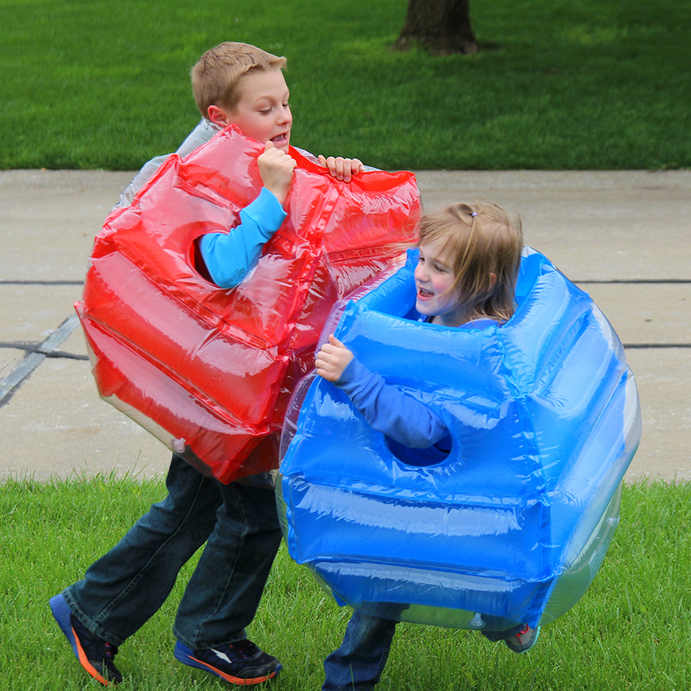 2 pieces/set Inflatable Body Bucket Bumper Ball Children Kids Sumo Bumper Outdoor Sport Inflatable Toys Party Weapon Armor Props