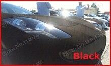 Carcardo 1 unid de 1.35 M X 0.5 M Negro de terciopelo Gamuza película del abrigo del vinilo película de Gamuza de terciopelo más enfermos etiqueta engomada del coche con la burbuja libre del ENVÍO GRATIS