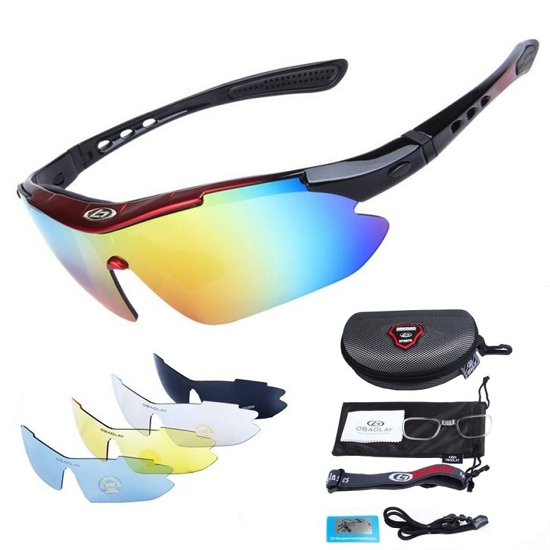 Polarized Cycling Glasses for Men Women Professional Riding MTB Sunglasses Mountain Road Oculos Windproof Eyewear obaolay outdoor cycling sunglasses polarized bike glasses 5 lenses mountain bicycle uv400 goggles mtb sports eyewear for unisex